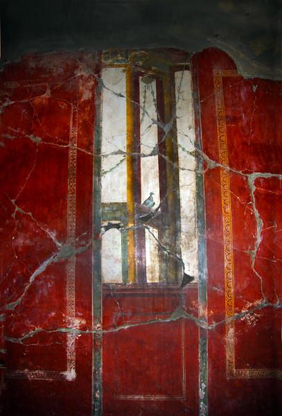 Italy, Villa Oplontis, Red Fresco