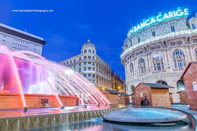 Piazza De Ferrari, Genoa, Liguria, Italy.