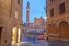 Palazzo Pubblico and Il Campo, Siena, Tuscany, Italy.