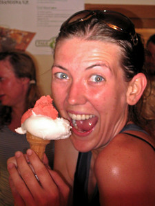 Not sure I could be any more excited than this for a cone of gelato after a long bike ride in Tuscany, Italy.