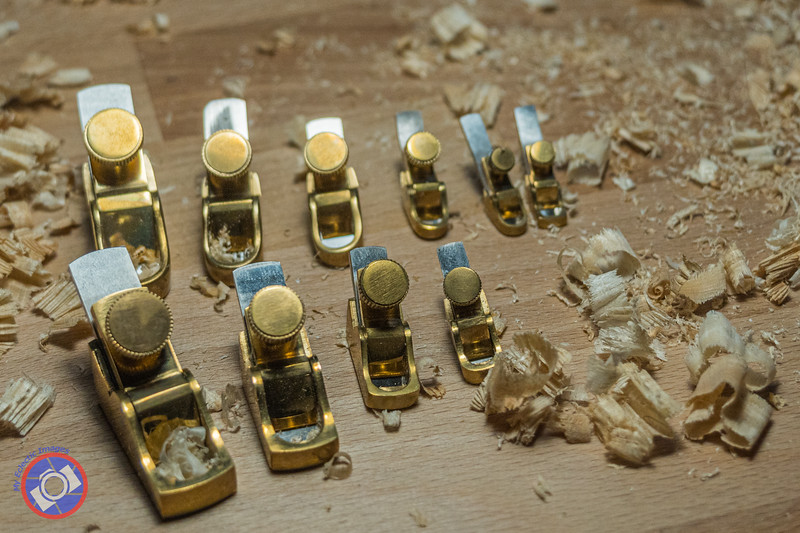 A Set of Wood Planes Ranging in Size from Just an Inch Long to About 3 Inches Long and Used in the Creation of an Amorim Fine Violin (©simon@myeclecticimages.com)