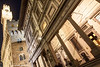 Palazzo Vecchio and the Uffizi Gallery, Piazza della Signoria, Florence, Tuscany, Italy.