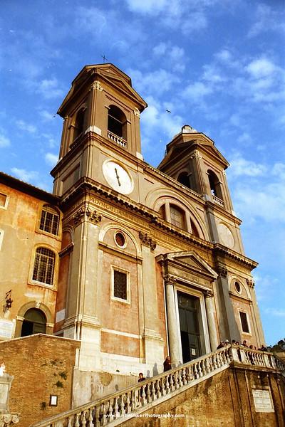 Trinità dei Monti, The Spanish Steps, Rome, Lazio, Italy.