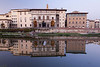 River Arno and Uffizi Gallery, Florence, Tuscany, Italy.