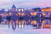 River Tiber and Saint Peter's Basilica (Vatican City), Rome, Italy.