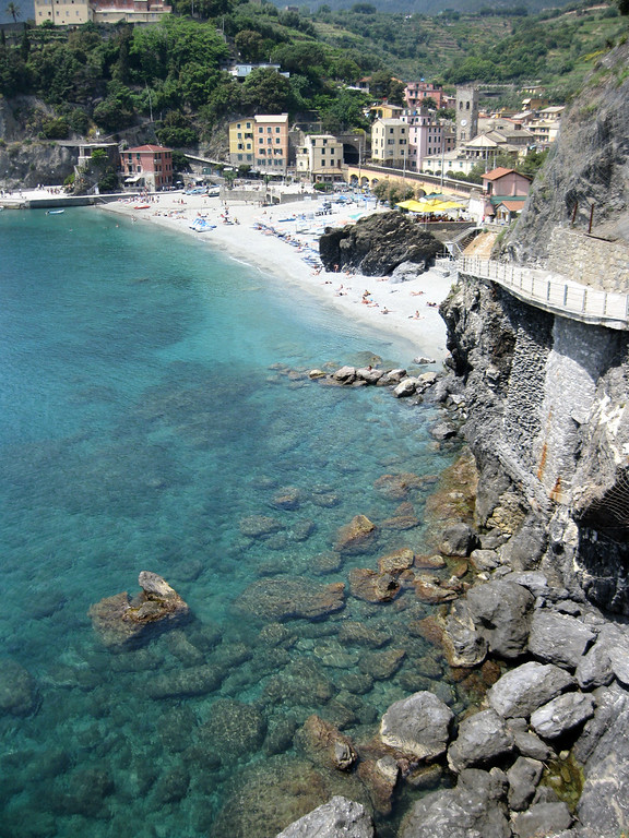 white sand beaches Monterosso, Italy