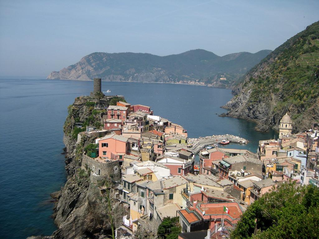 Ligurian coastline from the Cinque Terre hike.