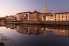 River Arno, Uffizi Gallery and Palazzo Vecchio, Florence, Tuscany, Italy.