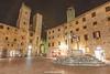 Piazza del Duomo, San Gimignano, Tuscany, Italy.