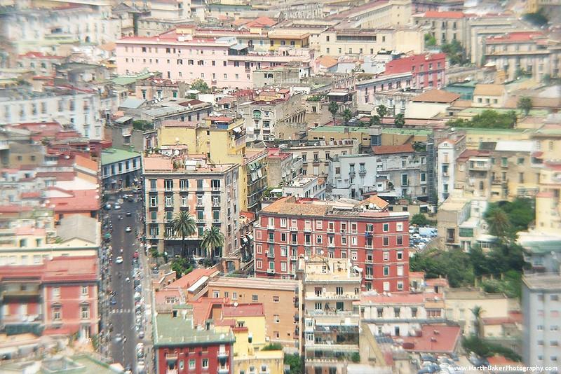 Naples (view from Castel Sant'Elmo), Campania, Italy.