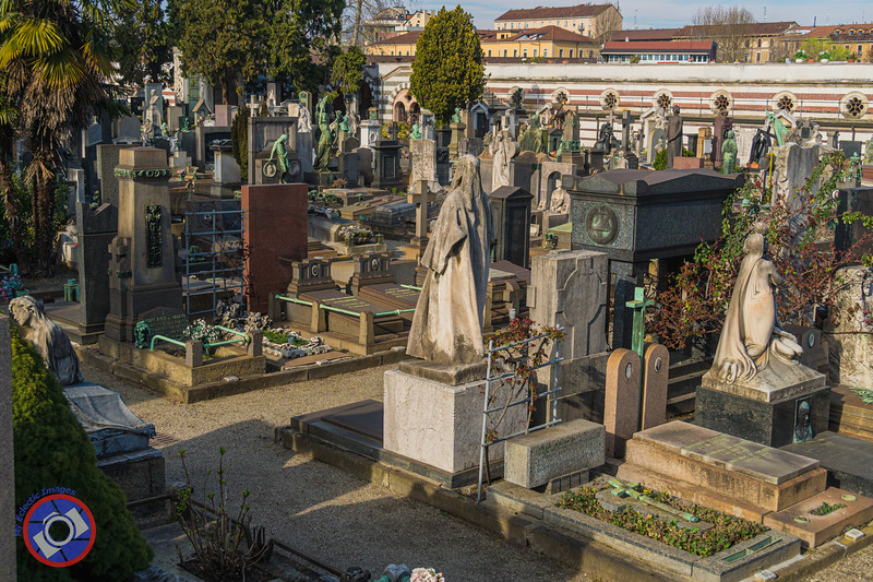 A Melange of Tombstones in the General Section of Milan Monumental Cemetery (©simon@myeclecticimages.com)