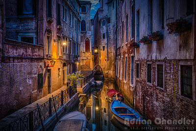Venice alley before dawn