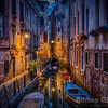 Venice alley just before dawn