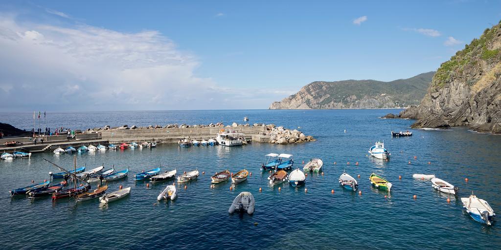 boats in harbour italy vernazza cinque terre amalfi coast