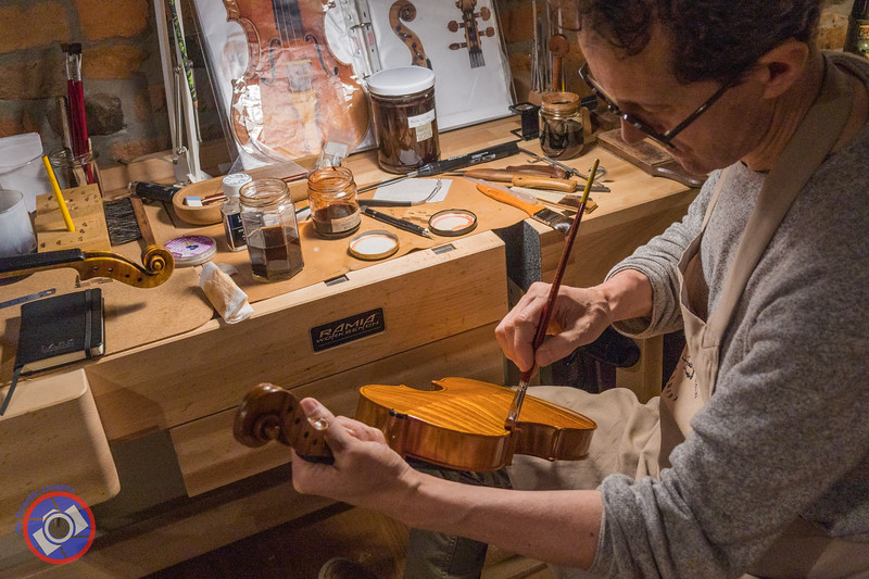 Luiz Amorim Applying the Finishing Touches to One of the Masterpieces Built by Amorim Fine Violins (©simon@myeclecticimages.com)