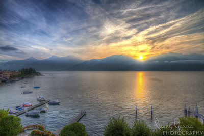 Sunrise over Lake Como in Italy