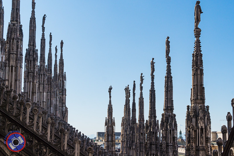 Just a Few of the Spires that Adorn Milan's Duomo (©simon@myeclecticimages.com)
