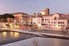 River Tiber, Rome, Lazio, Italy.