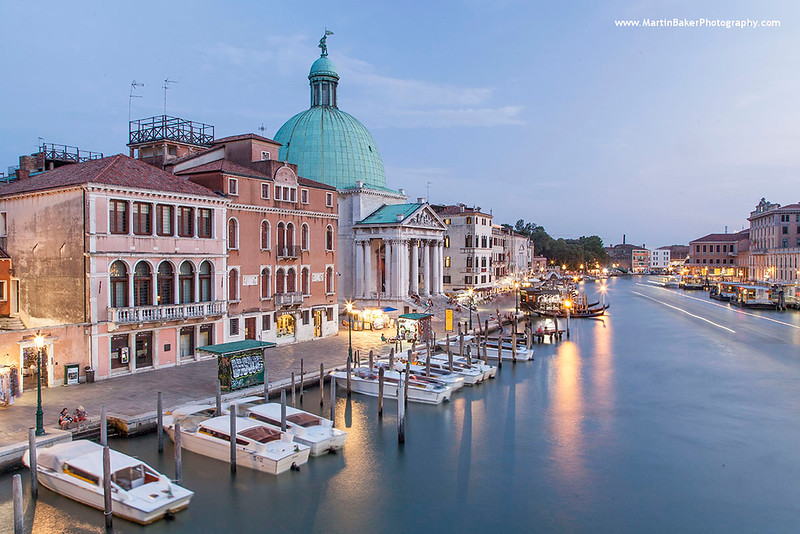 Church of San Simeone Piccolo and Canal Grande, Venice, Italy.