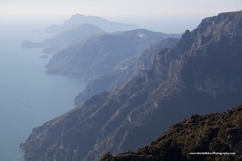 Amalfi coast and Capri, Campania, Italy.