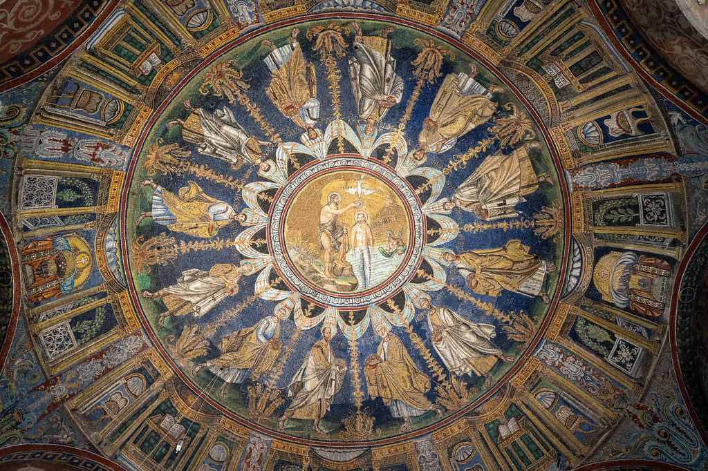 Ceiling in the Neonian Baptistry in Ravenna