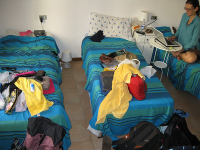 Our Florence Hostel - Not too tidy!