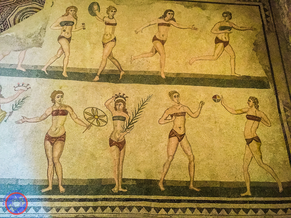 Who Said Bikinis were a Modern Invention - Mosaic at Villa Romana del Casale in Sicily (©simon@myeclecticimages.com)