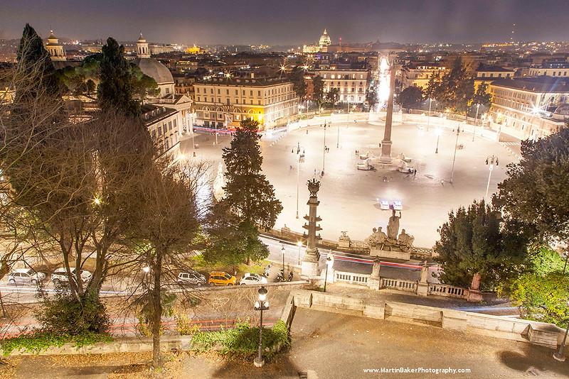 Piazza del Popolo, Rome, Lazio, Italy.