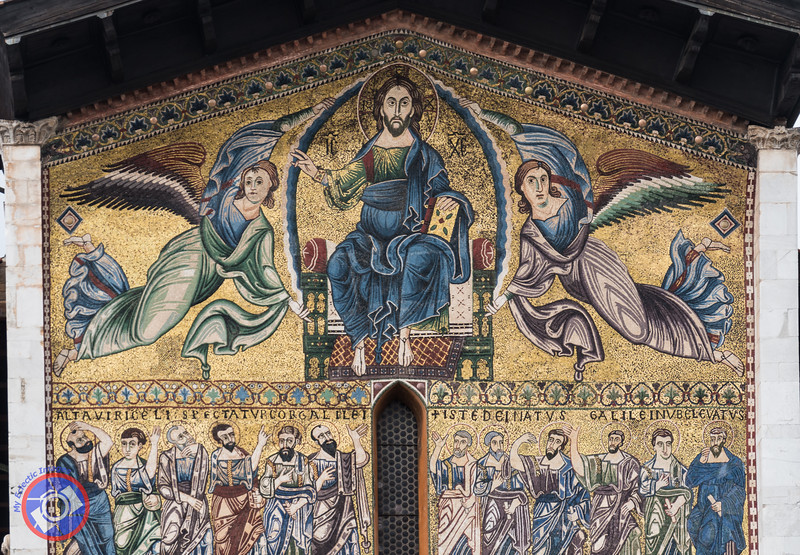 A Close-Up of the Mosaic Over the Main Entrance to the Basilica of Saint Frediano (©simon@myeclecticimages.com)