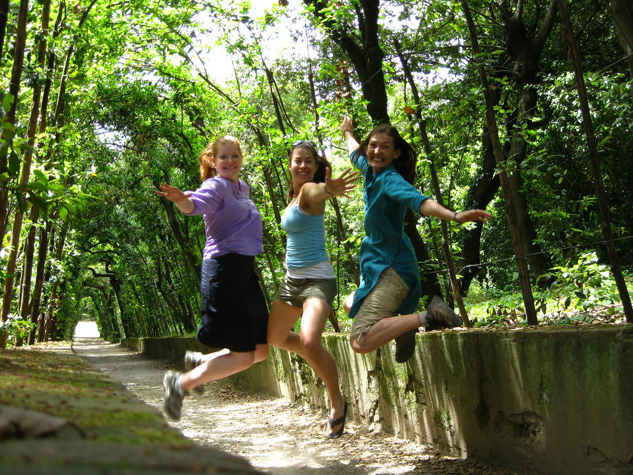 jumping shot at the boboli gardens florence