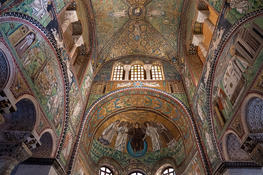 Mosaics at the Basilica of San Vitale in Ravenna
