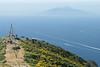View of Amalfi Coast, Monte Solaro, Cápri, Campania, Italy.