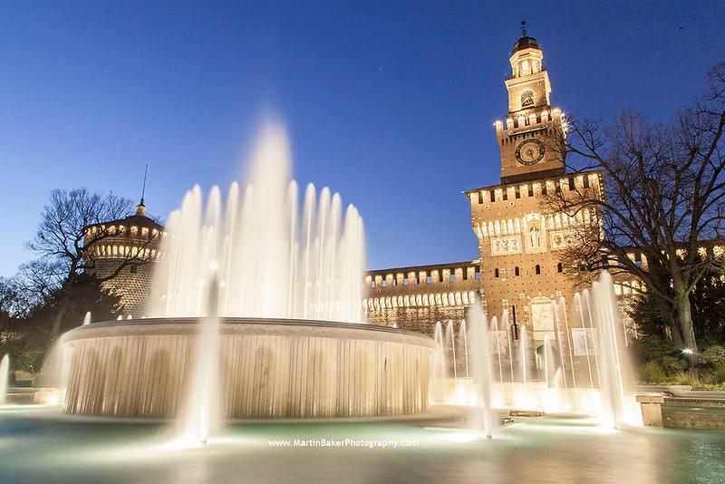 Castello Sforzesco, Milan, Lombardy, Italy.