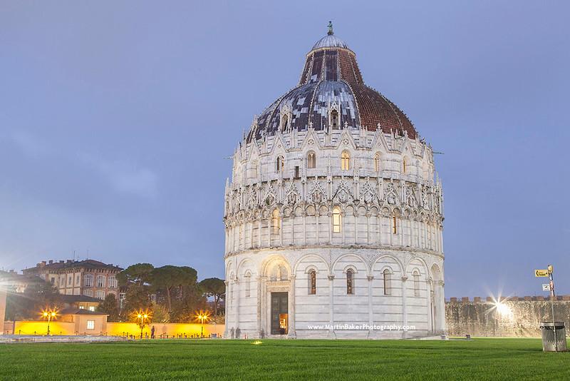 The Baptistery, Campo dei Miracoli, Pisa, Tuscany, Italy.