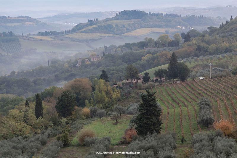 San Gimignano countryside, Tuscany, Italy.