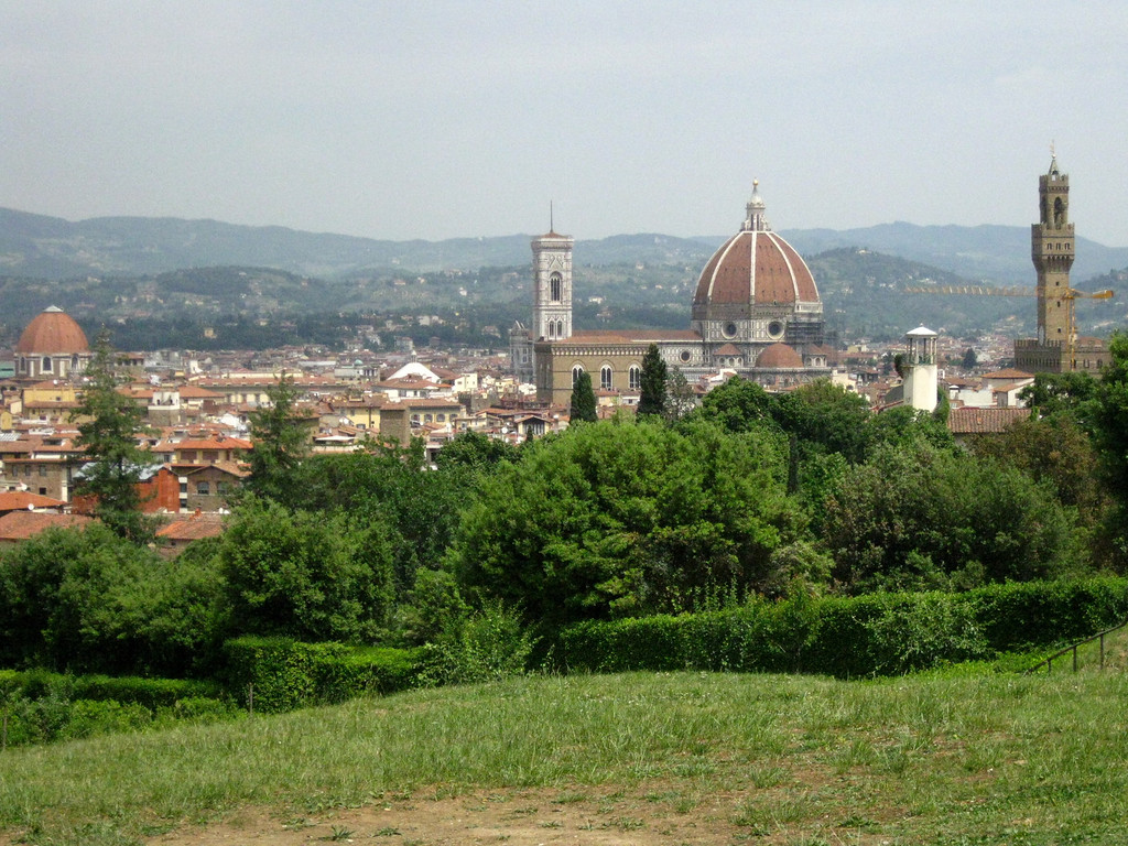 Views of Florence from the Boboli Gardens
