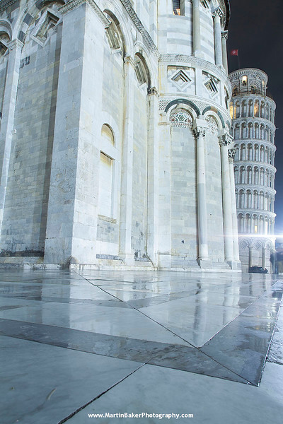 Il Duomo and Leaning Tower, Campo dei Miracoli, Pisa, Tuscany, Italy.