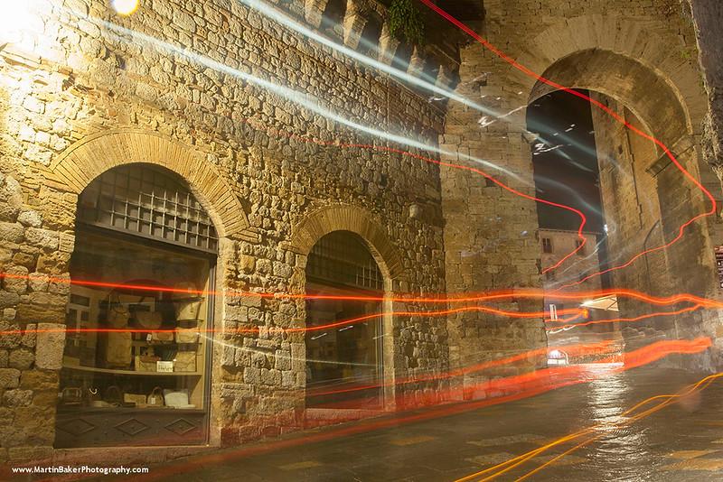 Via San Giovanni, San Gimignano, Tuscany, Italy.