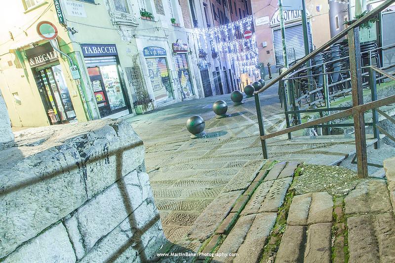Salita Del Prione, Genoa, Liguria, Italy.