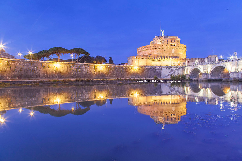 Castel Sant Angelo and River Tiber, Rome, Italy.