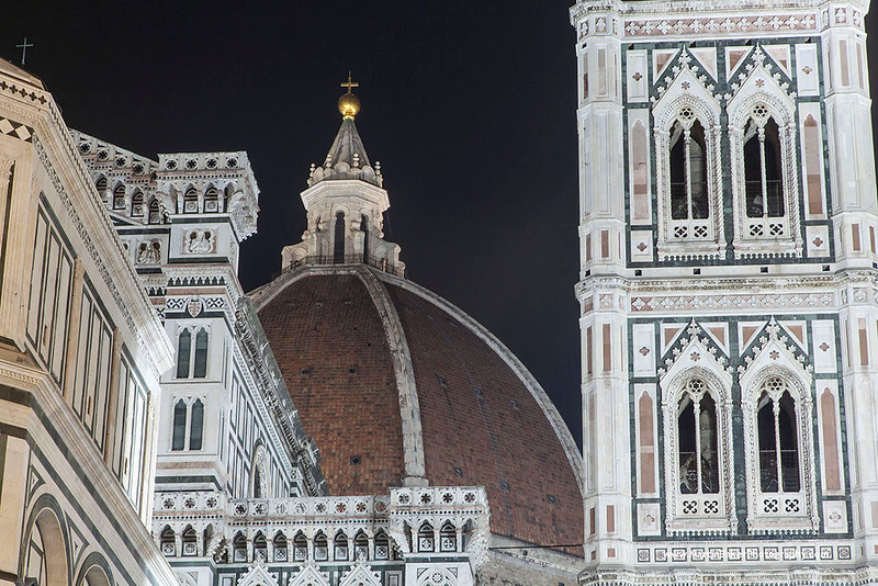 The Campanile and Santa Maria del Fiore, Florence, Tuscany, Italy.