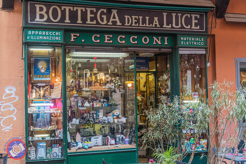 One of Many Interesting Stores in the Quadrilatero Area of Bologna (©simon@myeclecticimages.com)