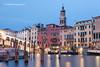 Ponte di Rialto and Canal Grande, Venice, Italy.