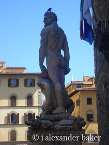 Florend - Hercules and Cacus by Bandinelli with pigeon.
