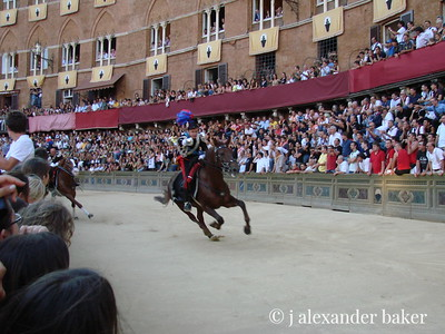 Captain of the Carabineri - at the provo for the Palio, Siena