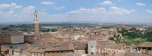 Siena from the unfinished nave of the Duomo