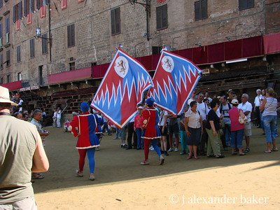 Siena - Contrada flags at the Palio.