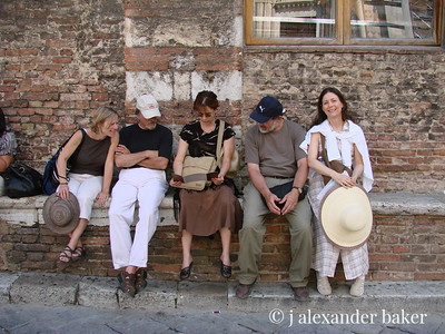 Weary tourists, Siena - my companions.