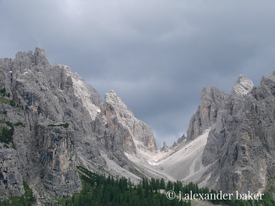 High Saddle in the Dolomites