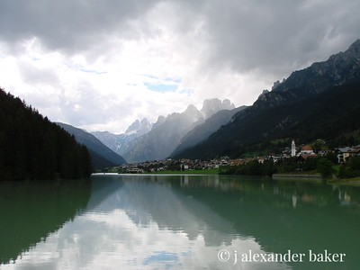 Alpine Lake - Farra d'Alpago in the Dolomites Italy